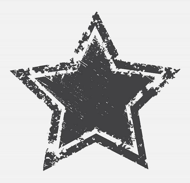 Estrela estressada velha isolada