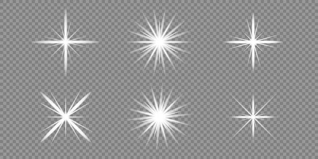 Estrela explode em transparente