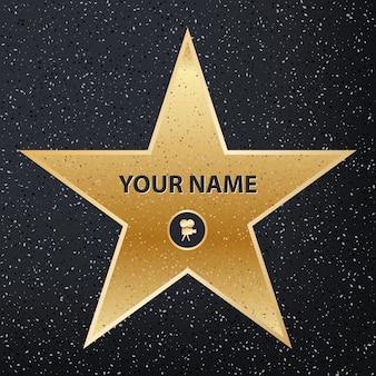 Estrela famosa atriz de calçada. calçada da fama de hollywood