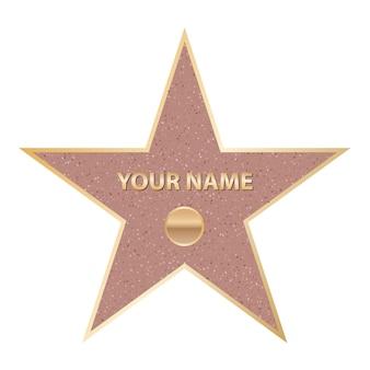 Estrela famosa do ator do passeio. caminhada de hollywood da fama