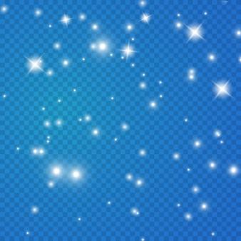 Estrela fascinante brilha, poeira brilhante. .