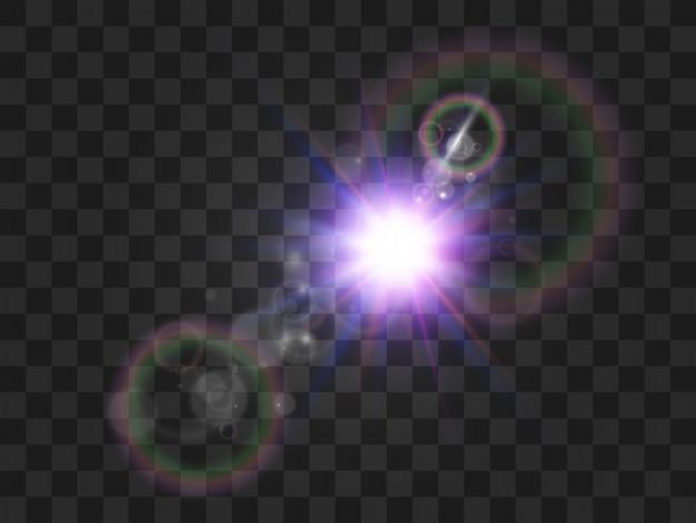 Estrela linda e brilhante. ilustração de um efeito de luz