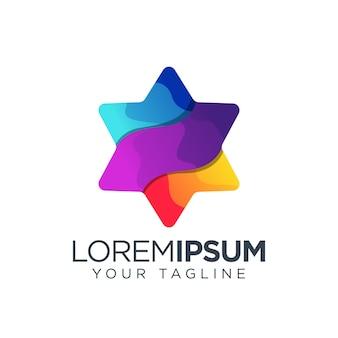 Estrela logotipo colorido moderno