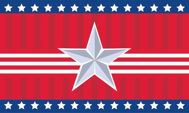 Estrela no dia da independência dos eua