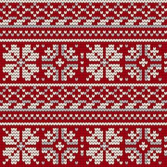 Estrela norueguesa tricô padrão