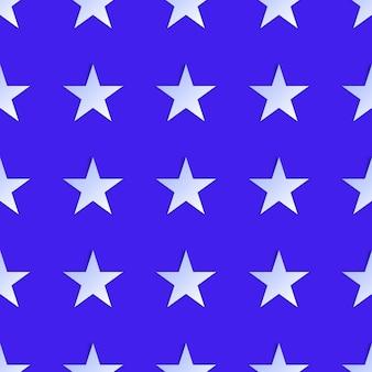Estrelas brancas sem costura padrão isoladas