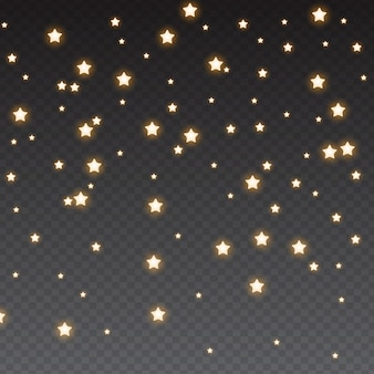 Estrelas brilhantes caindo
