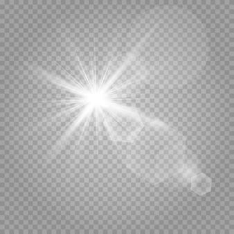 Estrelas brilhantes e brilho ofuscante