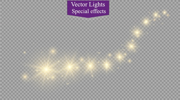 Estrelas brilhantes, luzes e brilhos. efeitos transparentes