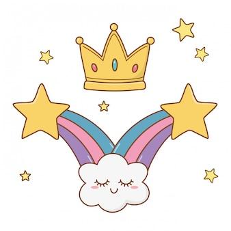 Estrelas cadentes e coroa