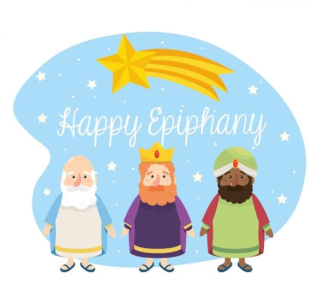 Estrelas cadentes e magos reis à epifania