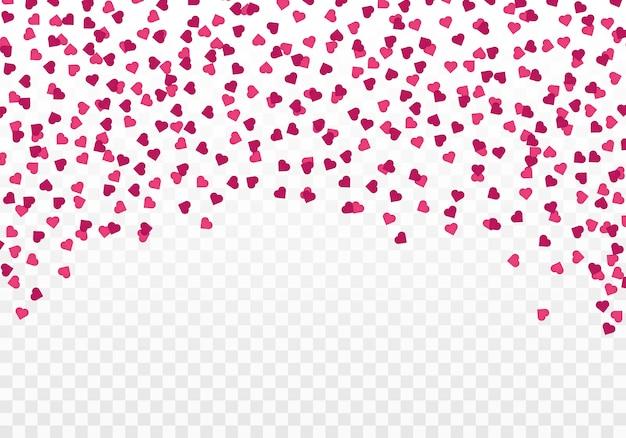 Estrelas coloridas festivas e confetes de coração. dia dos namorados .