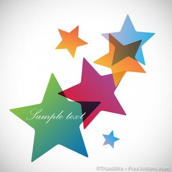 Estrelas coloridas fundo abstrato