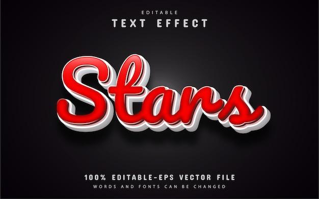 Estrelas com efeito de texto em desenho animado