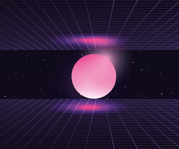 Estrelas da lua de néon