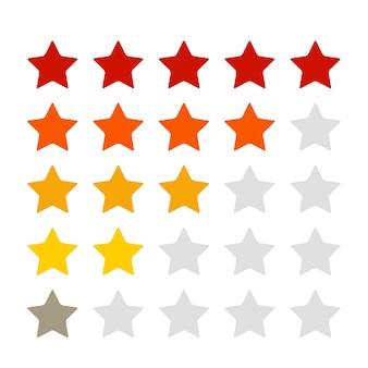 Estrelas de classificação para o produto