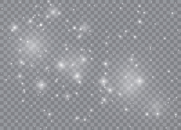Estrelas de efeito de brilho da luz.