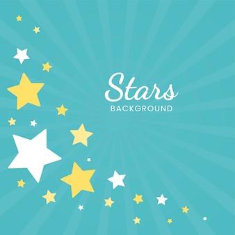 Estrelas de fundo azul