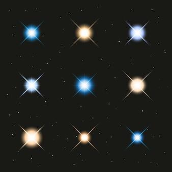 Estrelas de luz brilhante