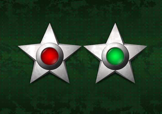 Estrelas de metal ligadas e desligadas