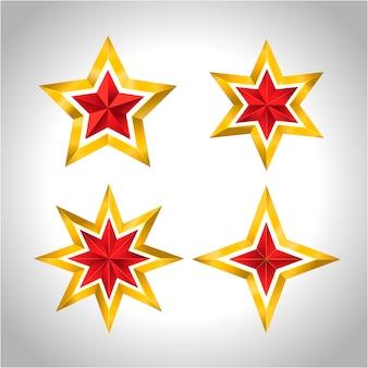 Estrelas de ouro feriado de ano novo natal