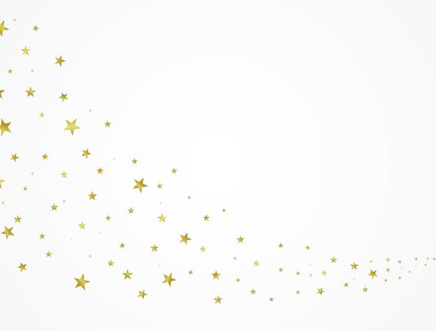 Estrelas de ouro lindamente organizadas em um fundo branco