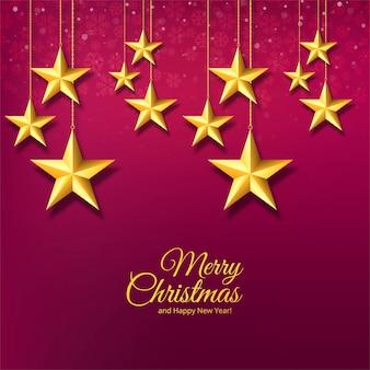 Estrelas decorativas de natal e flocos de neve