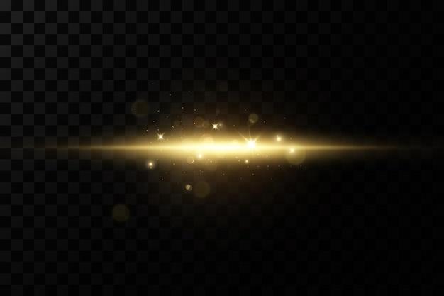 Estrelas douradas brilhantes em fundo preto transparente