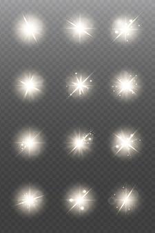 Estrelas douradas brilhantes isoladas