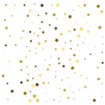 Estrelas douradas caindo fundo de confete