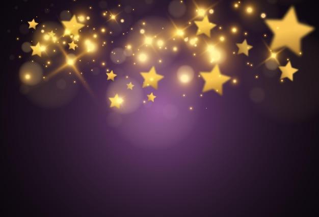 Estrelas douradas caindo
