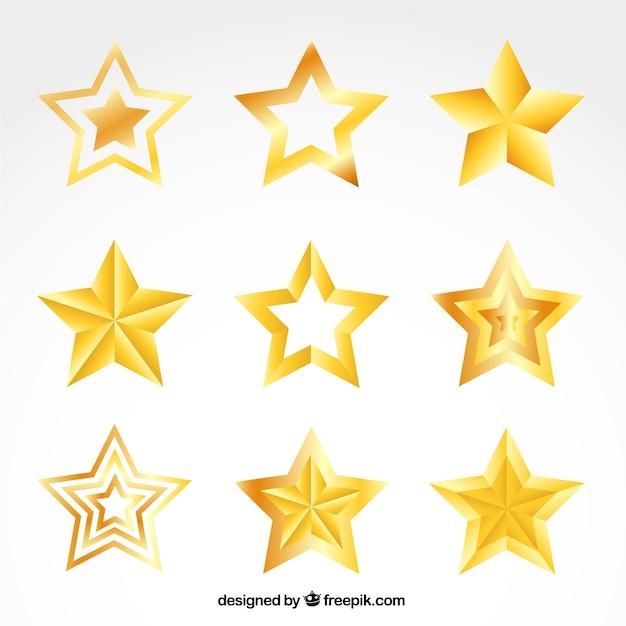 Estrelas douradas coleção