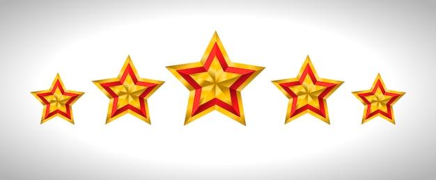 Estrelas douradas de natal ouro