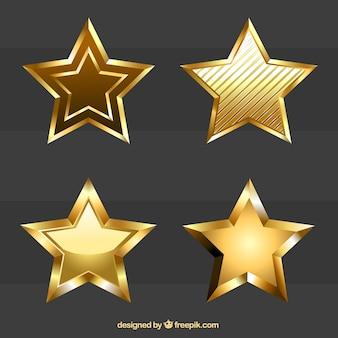 Estrelas douradas