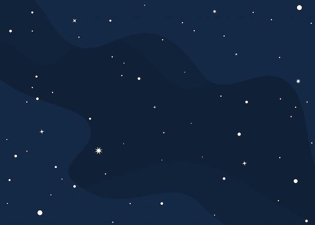 Estrelas no fundo do modelo de espaço sideral
