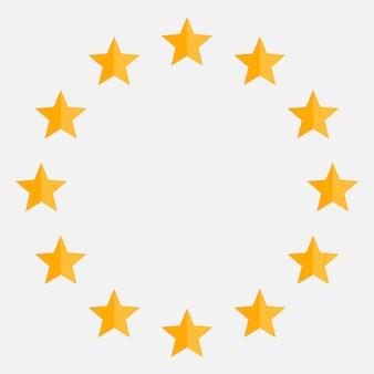 Estrelas no ícone de círculo.