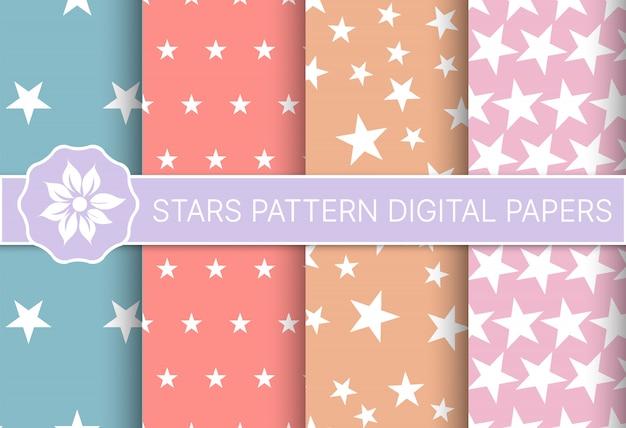 Estrelas padrão conjunto de férias de perfeita