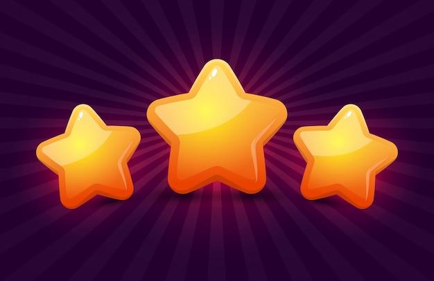 Estrelas para jogos. design de jogo de interface do usuário.