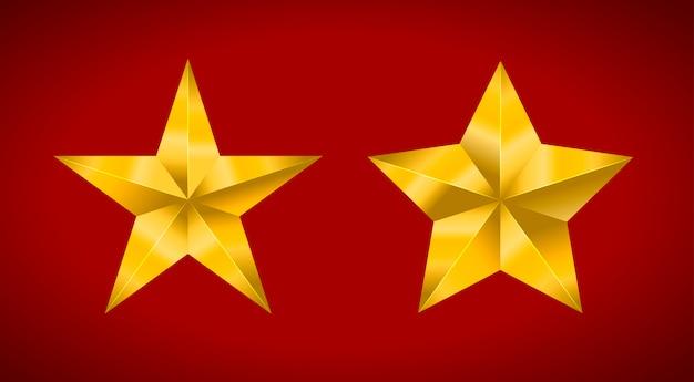 Estrelas realistas metálicas