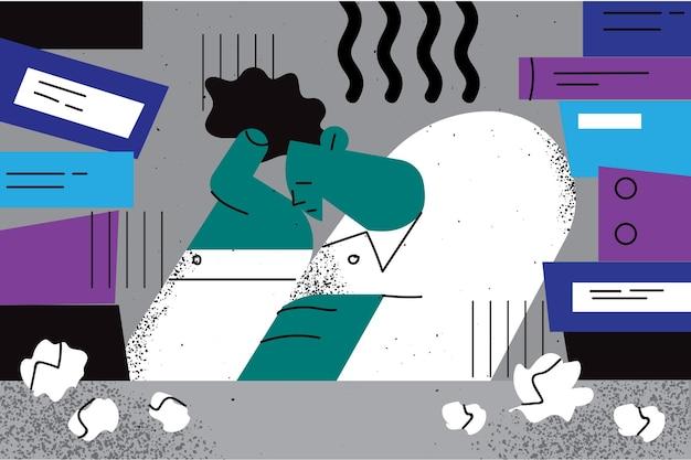 Estresse, esgotamento, conceito de depressão