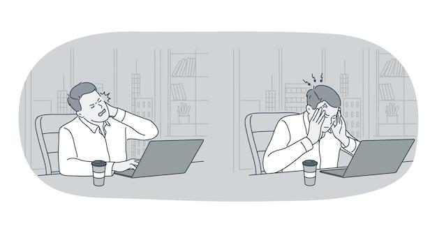 Estresse, excesso de trabalho, conceito de sobrecarga.