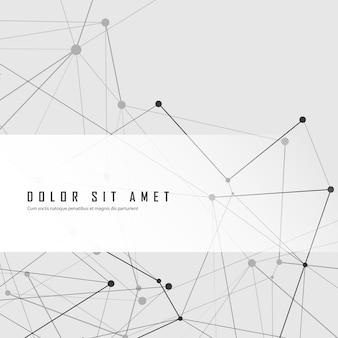 Estrutura criativa abstrata com pontos e linhas de conexão