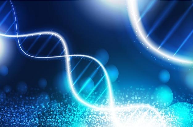 Estrutura de código de sequência digital de dna com conceito de ciência de brilho e fundo de nano tecnologia