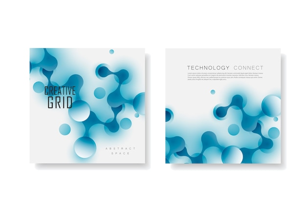 Estrutura de conexão abstrata em estilo de tecnologia. modelo de brochura para ciência, química, medicina, biotecnologia