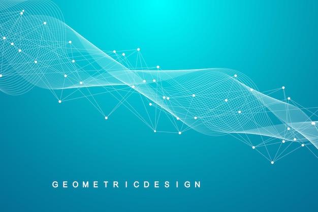 Estrutura de conexão de rede digital abstrata sobre fundo azul.