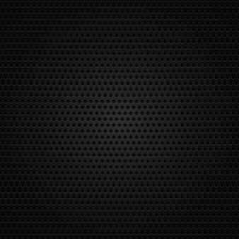 Estrutura de fundo preto metálico perfurado