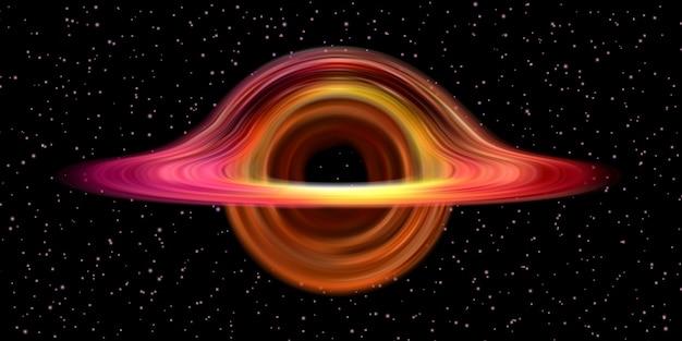 Estrutura do espaço realista de buraco negro