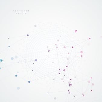 Estrutura poligonal abstrata com pontos e linhas de conexão