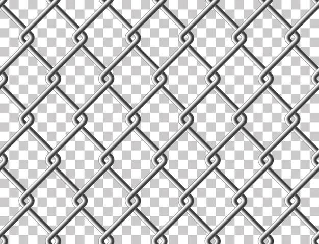 Estrutura transparente sem costura de cerca de metal de malha de aço