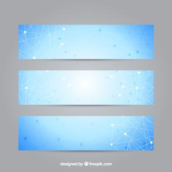 Estruturas geométricas banners